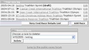 race log your races triathlon and multisport race report log