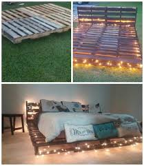 wood pallet bed with lights how to build a wood pallet bed
