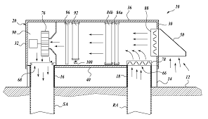 patent us20080203866 rooftop modular fan coil unit google patents patent drawing