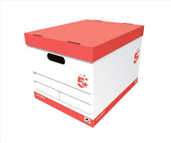 office file boxes. 5 Star Office Storage Box For A4 Lever Arch Files Red \u0026 White [Pack 10]: Amazon.co.uk: Products File Boxes H