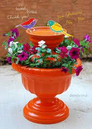 make a planter and a diy bird bath combo 12 diy garden s to take your