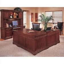 flexsteel rue de lyon executive l shaped desk in ruby cabernet