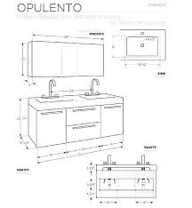 double vanity dimensions impressing double vanity dimensions bathroom cabinet