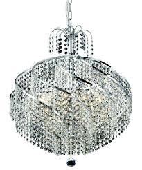 spiral 10 light chrome chandelier clear spectra swarovski crystal