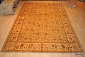 vegetable dye persian design rug gold brown tea green terra cotta grey