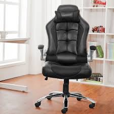 luxury leather office chair. Office Chair Desk Racing Computer With High Back PU Leather Executive (Black): Amazon.co.uk: Kitchen \u0026 Home Luxury E