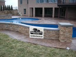 stamped concrete pool patio. Stamped Concrete Patio Cincinnati Mason Ohio. Pool Deck