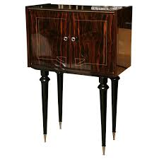 French Art Deco Period, Tall Exotic Macassar Ebony Bar / Cabinet ...