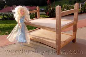 barbie doll bunk bed