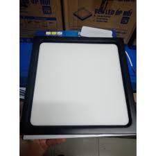 Đèn led ốp trần nổi vuông vỏ đen TLC Lighting- Ánh sáng màu trắng