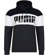 puma hoodie mens. men\u0027s new puma fleece hooded sweatshirt hoodie hoody jumper pullover - dark grey mens