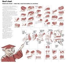 Human Meat Cuts Chart Beef Cutting Chart