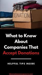 10 organizations that pick up donations