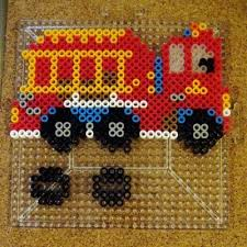 the vehicles in the rescue set are able to stand up when you are all done you simply create little bases for them which are also outlined on the perler