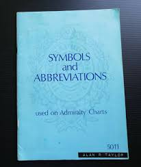 Symbols And Abbreviations Used On Admiralty Charts Vintage 1979 Boating Sailing