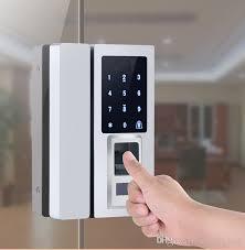 2018 smart fingerprint front door lock glass door entry access password unlock with card reader free shhipping from jcsmarts lock 192 97 dhgate com