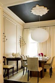 painted ceiling solid accent color