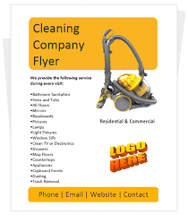 commercial cleaning flyer templates cleaning company flyer by cleaningflyer com honey do s cleaning