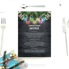 Menu Card Template Best Images On Dinner Download Holiday
