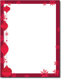 Christmas Stationary Template Free Holiday Stationery Templates