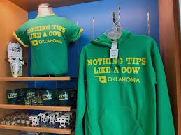 this undated photo provided by will rogers world airport shows t shirts at the airport in oklahoma city okla oklahoma city mayor david holt said