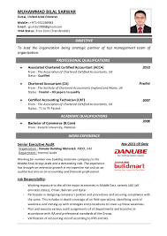 Account Cv Template 2 Chief Accountant Resume Samples 9 For