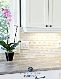 cloud white cabinets hexagon subway tile backsplash formica soapstone countertops kylie m e and sherwin williams