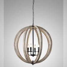 y decor capoli 4 light wooden orb chandelier in neutral finish regarding lighting inspirations 16