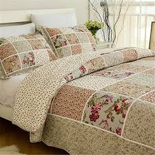awesome ideas bedspread and comforter sets fadfay 100 cotton queen size bed vintage fl patchwork quilted bedding