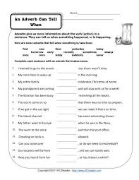 An Adverb Can Tell When | Free, Printable Adverb Worksheets