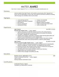 Sample Teacher Resume With Experience Teachers Resume Teacher Education Emphasis Fantastic Templates 18