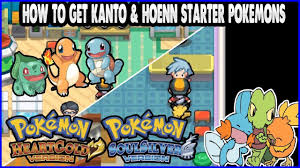 Pokemon HeartGold and SoulSilver - How to get Kanto and Hoenn Starter  Pokemons - YouTube