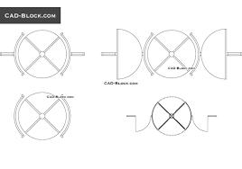revolving doors cad blocks autocad file