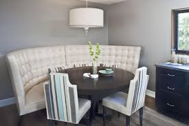 94 dining room tufted banquette table with white chairs