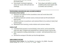 Objective For Cashier Resume Resumes Examples Sample Example
