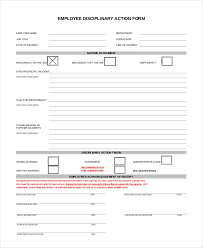 Disaplinary Forms Employee Disciplinary Forms Template Sample Resume Resume Pdf