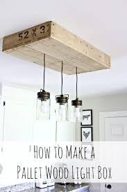 cheap kitchen lighting fixtures. Pallet Light Box: How To Make A Custom Light Box From Wood. An Cheap Kitchen Lighting Fixtures