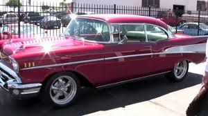 1957 Chevy Belair 454 Chevrolet Big Block flowmaster exhaust frame ...