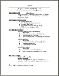 Hotel Housekeeping Resume Sample Musiccityspiritsandcocktail Com
