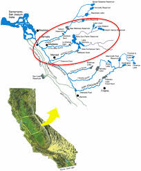 map of project area for case study the stanislaus tuolumne and