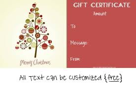 christmas certificates templates christmas gift certificate template