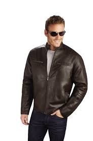 mens scooter style lambskin leather jacket