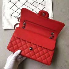 red chanel bags. used chanel bag lady shoulder fashion rhombus red bags