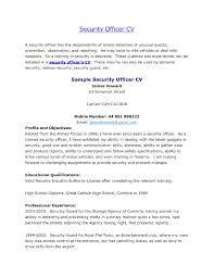 Resume Templates Retail Security Officer Examples Brilliant Ideas