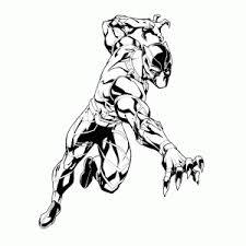 Black Panther Kleurplaten Leuk Voor Kids