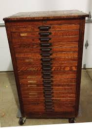 reserved for crystal hamilton letterpress cabinet