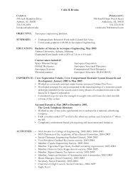 sample undergraduate resumes converza co