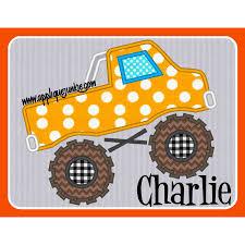 Little Boy Applique Designs Monster Truck Applique Design