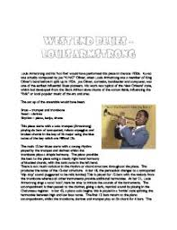 west end blues louis armstrong a level music marked by  page 1 zoom in