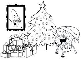 Spongebob Christmas Coloring Worksheets Color Bros